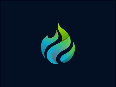 Flame green bleu colorful gradient fire flame