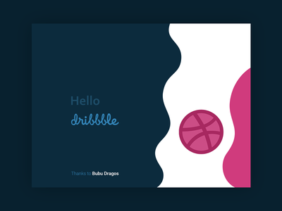 Hello, Dribbble! space curves burzo design blue debut