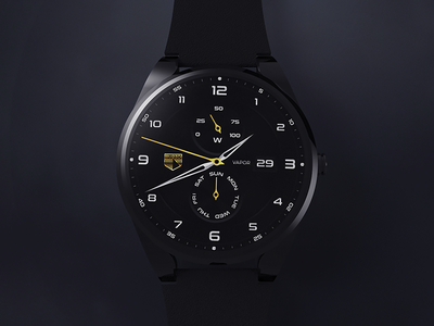 Burzo Watch hour time concept wearables wearable industrial watchface android androidwear smartwatch design watch