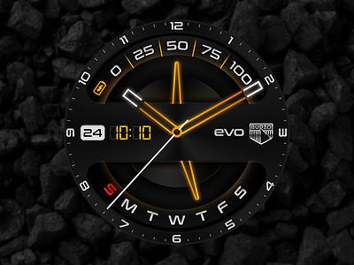 Evolution Watchface light hour time concept wearables wearable watchface android androidwear smartwatch design watch