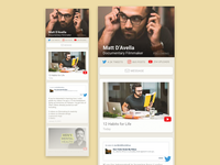 Content Aggregator - Daily UI: User Profile