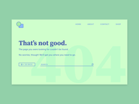 Minty Green 404 Page - Daily UI: 404