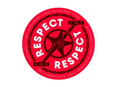 Bucharest Fixed - Respect sticker safety bikers traffic sticker fixed gear fixed bikes respect bucharestfixed