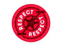 Bucharest Fixed - Respect sticker