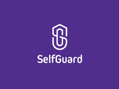 SelfGuard selfdefense android ios branding id identity logotype lettering monogram logo app