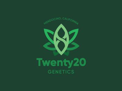 Twenty20 Genetics seed breeding weed branding identity logo
