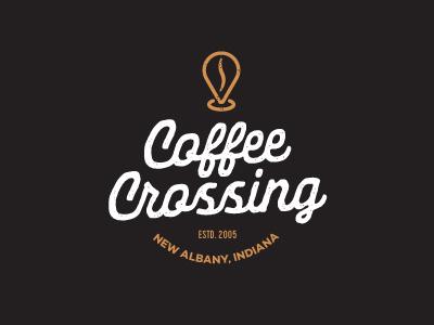Coffe Crossing meeting location coffee branding identity logo