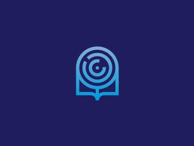 Machine learning mark machine book artificialintelligence network neural learning ai mark identity logo
