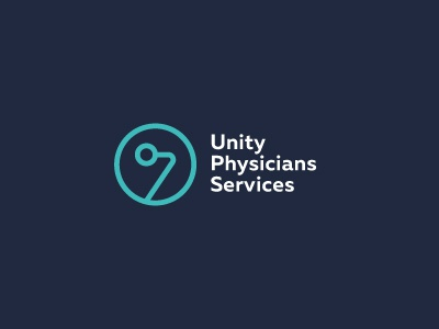 Unity Physicians Services stethoscope services unity physician branding identity logo