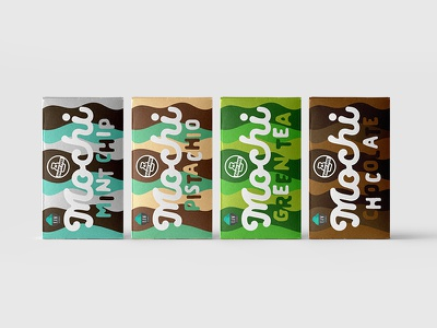 Packaging proposal for a dairy free mochi dairyfree mochi icecream wave pack identity branding packaging
