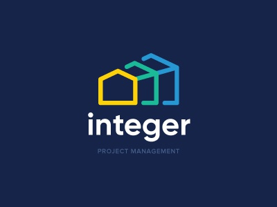 Integer Project Management organized architecture building management projectmanagement identity branding logo