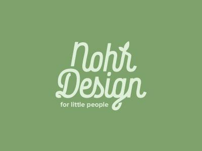 Nohr Design typography type leaf green organic children clothes identity branding logo
