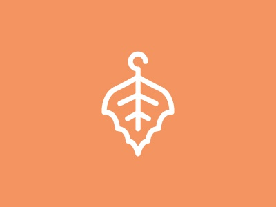 Organic clothes mark typography type leaf green organic children clothes identity branding logo