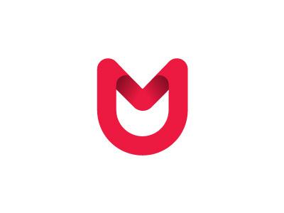 M Mark letter m gradient mail mark logo