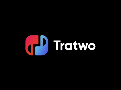 Tratwo - Translation, Interpretation & Corporate Training negativespace two balance training symbol mark graphicdesign logotype corporate translation identity logo