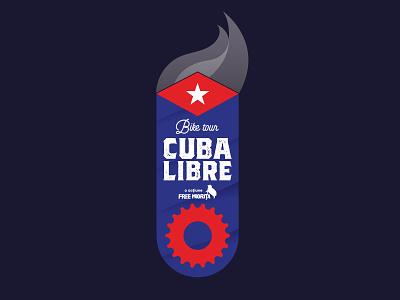 Cuba Libre Bike Tour Sticker spoke cigar trail biking bike tour cuba sticker
