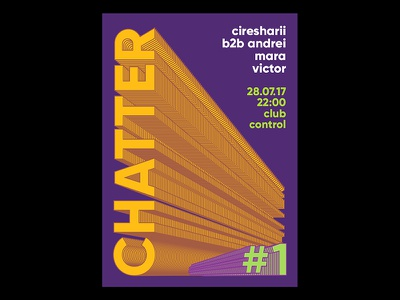 Chatter 1 event branding visualidentity identity party typography lettering lines posterdesign poster