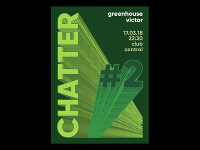 Chatter 2 event branding visualidentity identity party typography lettering lines posterdesign poster