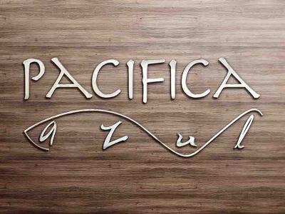 Pacifica Azul Logo Design fish logo seafood logo restaurant logo design restaurant logo graphic designer graphic design logo designer logo design logo