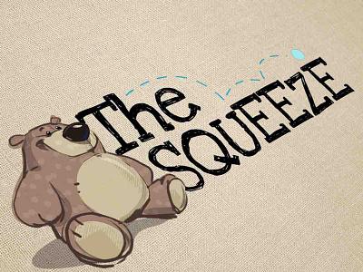 The Squeeze Logo Design stuffed animal logo logo logo design logo designer graphic design graphic designer toy store logo design bear logo toy logo