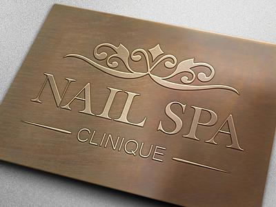 Nail Spa Clinique Logo Design spa logo designer spa logo design nail spa logo graphic designer graphic design logo designer logo design logo