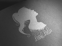 Lash Lala Logo Design silhouette logo design spa logo design spa logo lashes logo design lashes logo graphic designer graphic design logo designer logo design logo