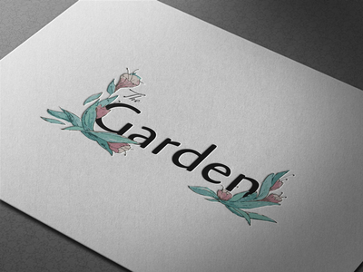 The Garden Logo Design floral logo design flower logo design floral logo graphic designer graphic design logo designer logo design logo