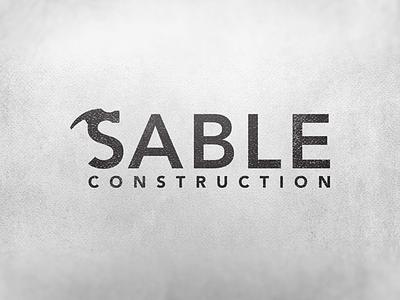 Sable Construction Logo Design hammer logo design hammer logo construction logo design construction logo graphic designer graphic design logo designer logo design logo