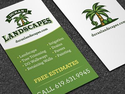 Duran Landscapes Business Card Design logo design logo logo designer graphic design drought tolerant logo design landscape business card design landscaping business card design landscape logo design landscaping logo design