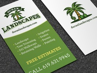Duran Landscapes Business Card Design logo design logo logo designer graphic design drought tolerant logo design landscape business card design landscaping business card design landscape logo design landscaping logo design