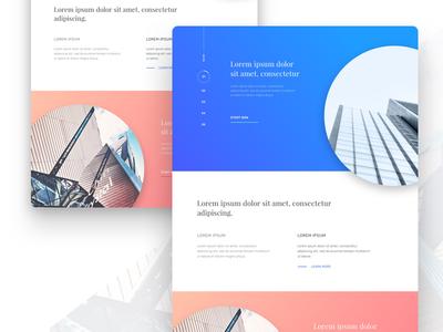Landing Page  building architecture interaction clean minimal freebie free design ux ui page landing