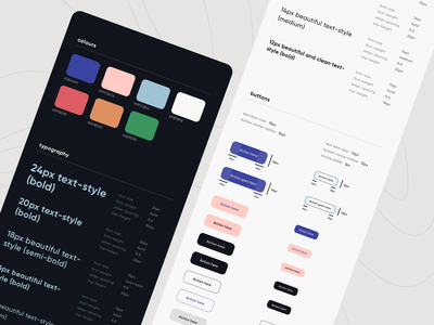 CRED 2.0 | Style Guide style guide brand identity lighttheme darktheme fonts interface designsystem styleguide visual identity button typography color brand fintech products mobile clean app minimal ui