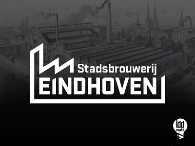 Logo Stadsbrouwerij branding local passion recognisable eindhoven schellensfabriek unique modern industrial identity logo