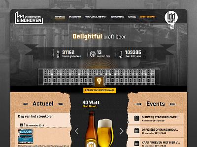 Website Stadsbrouwerij Eindhoven identity ambient taste passion industrial modern character beer local brewery web design responsive