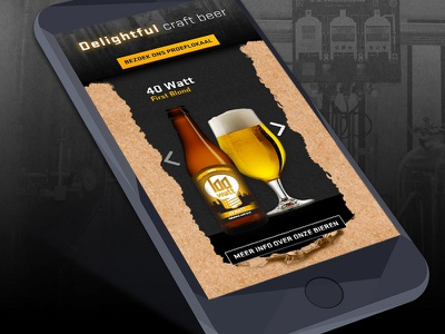 Responsive website Stadsbrouwerij Eindhoven identity ambient character easy to use usability animation interface interaction responsive mobile