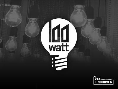 Logo 100 Watt Stadsbrouwerij brewery beer schellensfabriek eindhoven unique exposure branding identity modern industrial light bulb logo