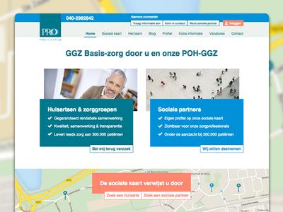 Website Pro Praktijksteun user-interface interactive connect healthcare responsive restyle identity design webdesign eindhoven