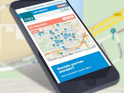 Responsive website Pro Praktijksteun modern simplistic online community platform connecting people identity webdesign interface mobile responsive