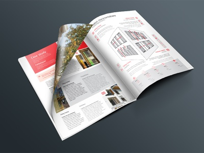 Warema Frames brochure layout unique details user experience live animation interactive design custom print brochure magazine