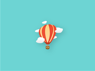 Air balloon in the clouds clouds icon illustration airballoon