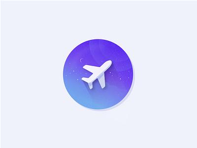 Travel Sticker icon shadow sticker gradient travel