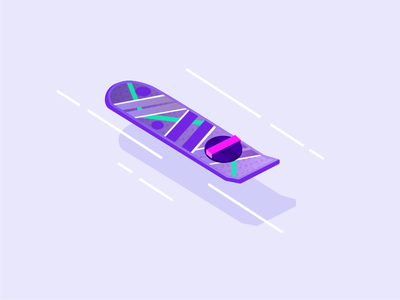 Travel Tech Con Hoverboard back to the future illustration conference swag travel hoverboard