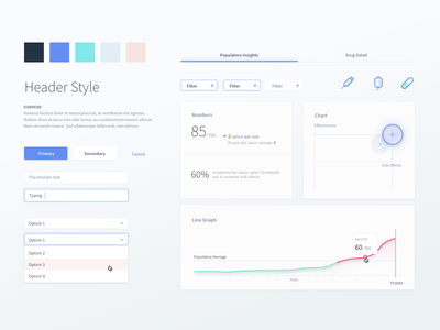 Health App Style Tile health components ui visual style guide visual design style tile