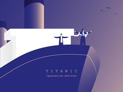 Titanic (Quarantine Edition) painting drawing digital painting digital art covid19 quarantine staysafe stayhome moviesquarantineedition films movies illustration