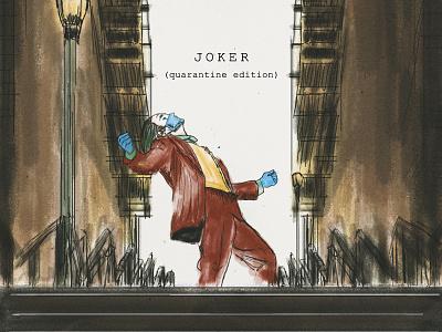 Joker (Quarantine Edition) staysafe stayhome quarantine painting moviesquarantineedition movies illustration films drawing digital painting digital art covid19