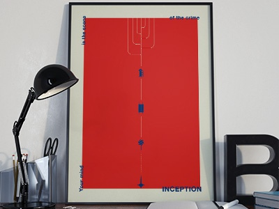 Inception Poster for Filmink Project colors minimal typo ink filmink movie poster inception
