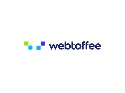 Webtoffee logo mark icon emblem modern minimal flat shape new york logo designer blue violet green company firm startup digital service plugin extension app t w