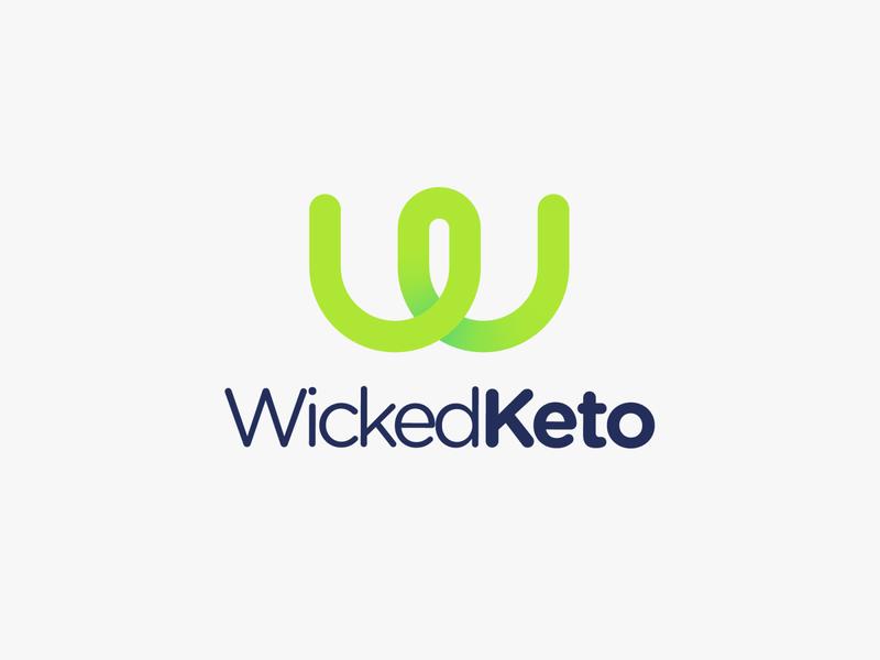 WickedKeto san francisco green company keto w startup logo design branding brand design new yorker icon emblem mark modern minimal flat logo designer