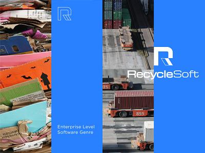 Recycle Soft r letter blue brand identity branding mascot mark icon symbol ukraine new york logo designer app software recycle