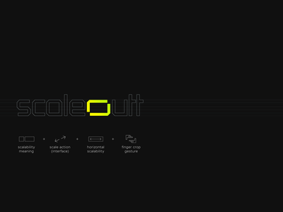 Scaleoutt out frame app tech it saas cyber company firm agency yellow green ukraine new york symbol icon mark symbol software scale logo designer
